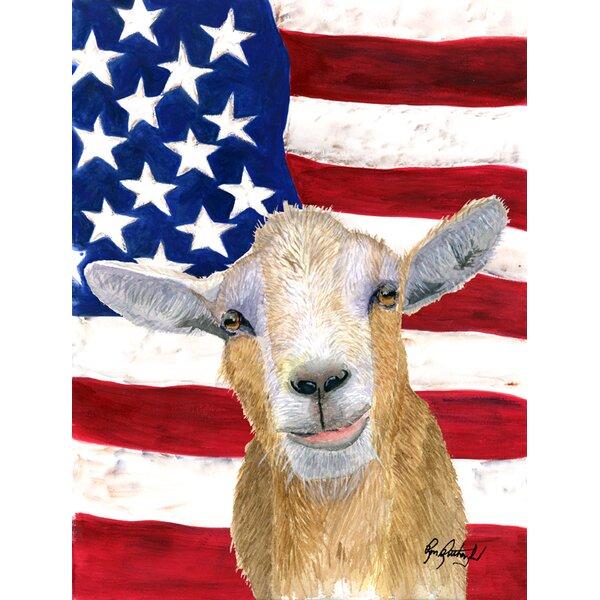 American Goat 2-Sided Garden Flag by Caroline's Tr