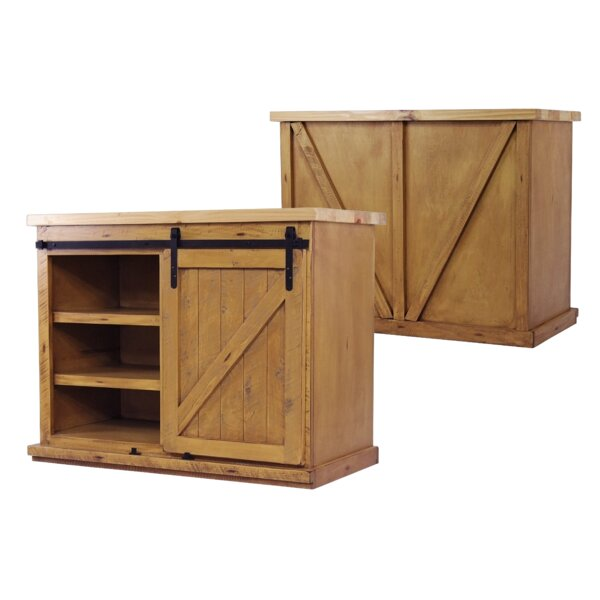 Uli Wood Kitchen Island with Butcher Block Top by Gracie Oaks