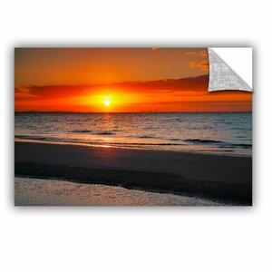 ArtApeelz Sunrise Over Sanibel by Steve Ainsworth Photographic Print on Canvas by ArtWall