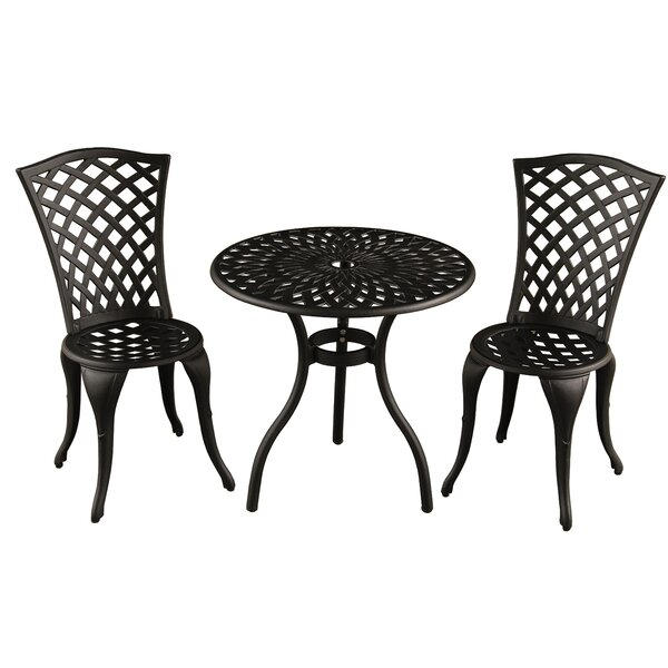 Hufford Mesh Lattice 3 Piece Bistro Set by Charlton Home