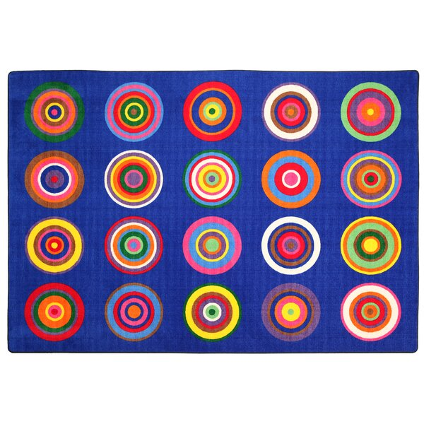 Color Rings Indigo Area Rug by Flagship Carpets