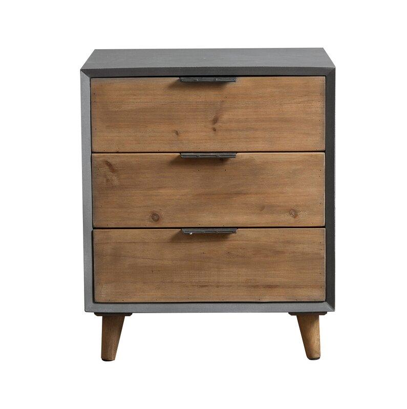 Teton Home Minimalist 3 Drawer Wooden Cabinet Chest & Reviews ...