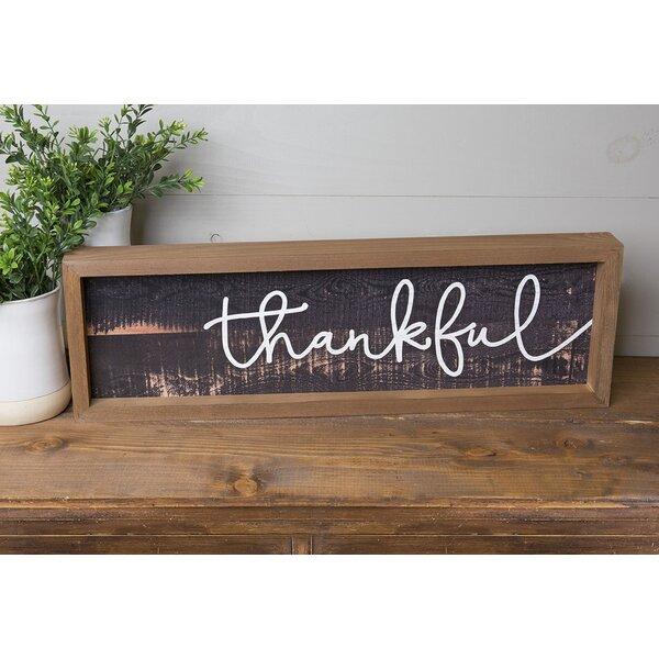 Farmhouse Frame - Thankful Wall Décor by Gracie Oaks