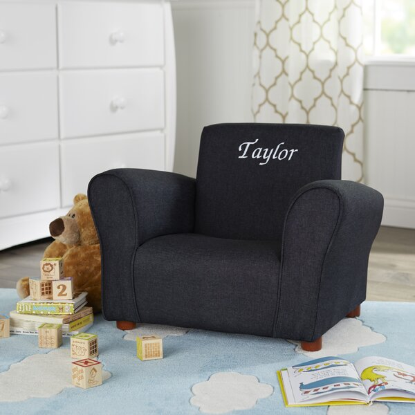 Bon Keet Blue Denim Personalized Kids Club Chair U0026 Reviews | Wayfair