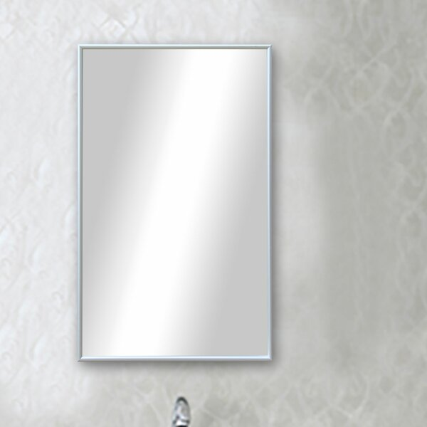 Polished Silver Floor Mirror by Darby Home Co