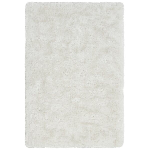 Joellen Textured Contemporary Shag Ivory Area Rug by Everly Quinn