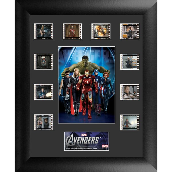 Avengers Mini Montage FilmCell Presentation Framed Vintage Advertisement by Trend Setters