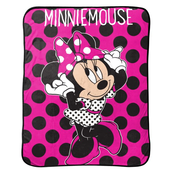 Disney Minnie Mouse Dots are the New Black Plush Throw by Shopkins