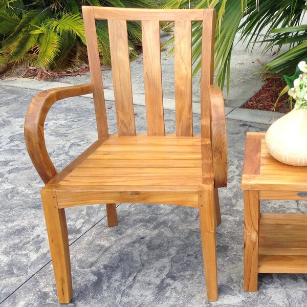 Ares Teak Patio Dining Chair by Darby Home Co