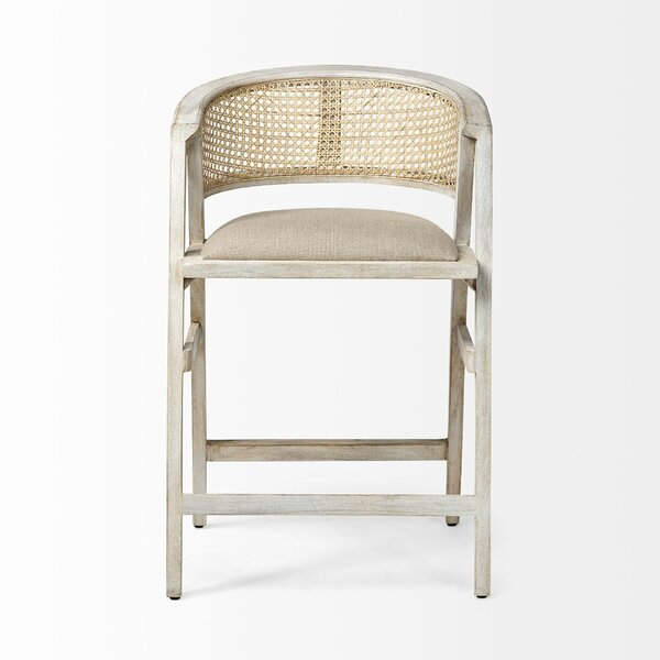 Emelia Solid Wood Arm Chair in Whitewashed by Rosecliff Heights Rosecliff Heights