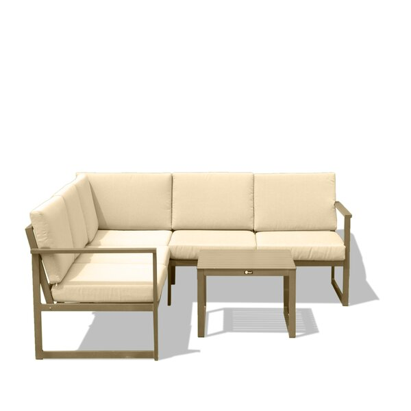 Hitchin Outdoor 3 Piece Sectional Seating Group with Cushions by Corrigan Studio