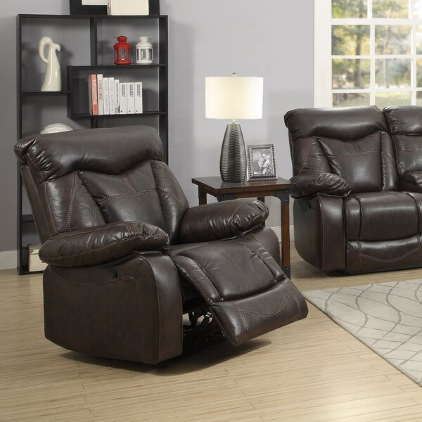Eisenhart Splendid Motion Power Recliner with Pillow Arms by Darby Home Co