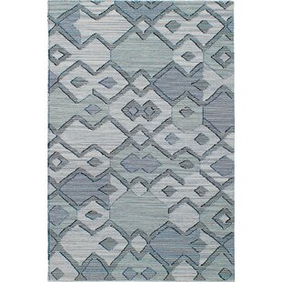 One-of-a-Kind Hagan Kilim Handwoven Flatweave 4'11 x 7'10 Wool Light Gray Area Rug by Union Rustic