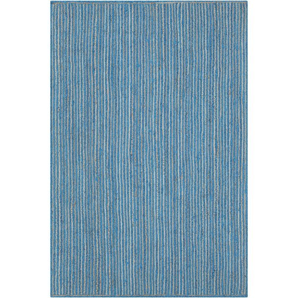 Yother Textured Contemporary Blue Area Rug by Brayden Studio