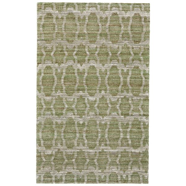 Reich Hand-Woven Green Area Rug by Bloomsbury Market