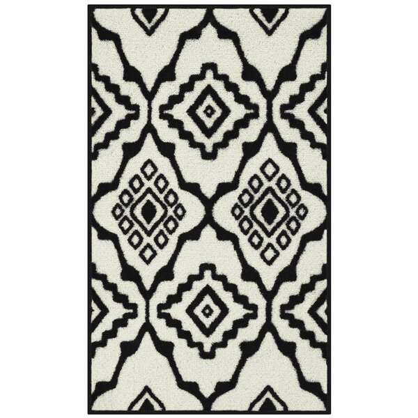 Onondaga Black/Cream Area Rug by World Menagerie