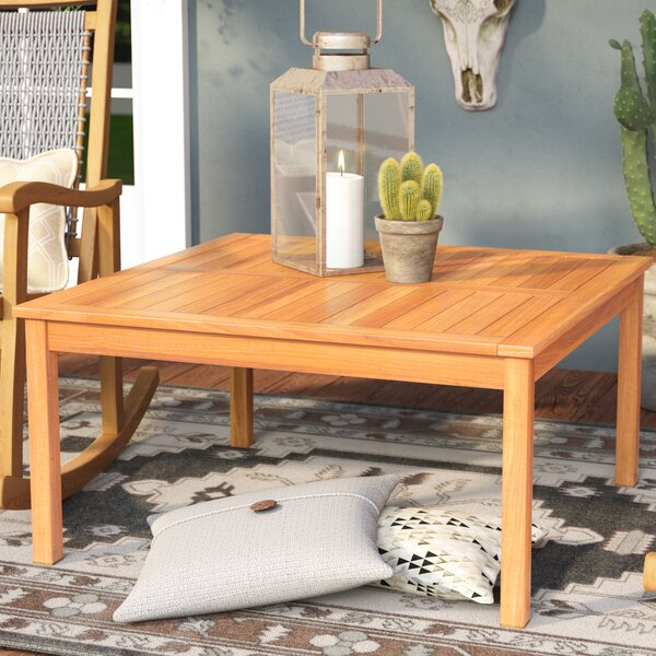 Waurika Outdoor Wood Coffee Table by Loon Peak