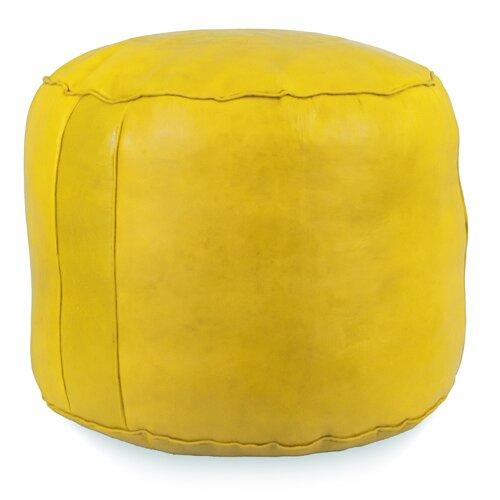 Fohoren Tabouret Fez Leather Pouf By World Menagerie