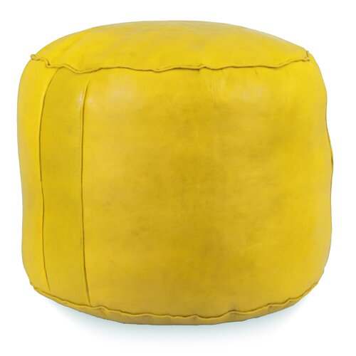 Fohoren Tabouret Fez Leather Pouf By World Menagerie