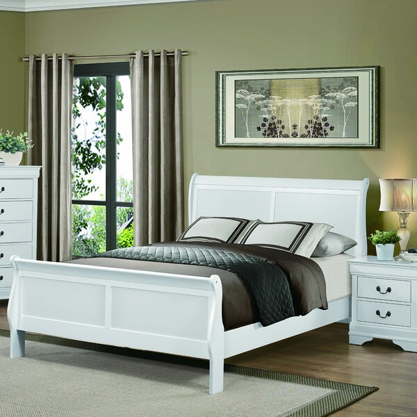 Waynesburg Sleigh Bed by Alcott Hill