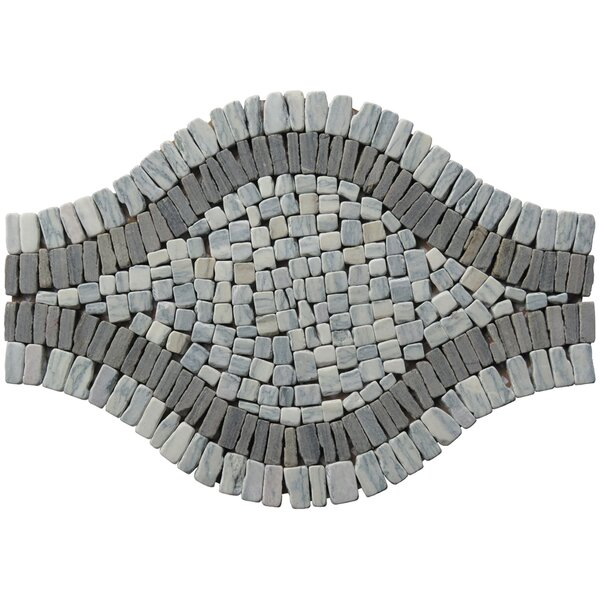 Landscape Wonder 17 x 12  Wavy Stone Blend Mosaic Tile in Two-tone Gray by Intrend Tile