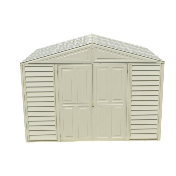 Wood Bridge 10.5ft.x 8ft. Plastic Traditional Storage Shed by Duramax Building Products