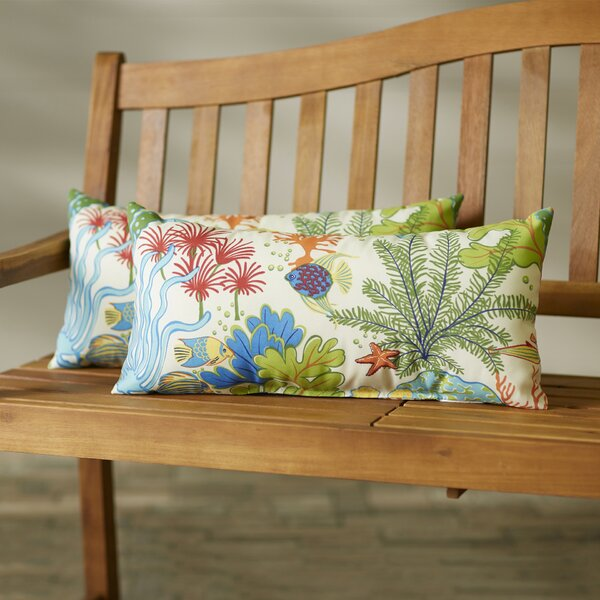 Evadne Outdoor Lumbar Pillow (Set of 2) by Bayou Breeze