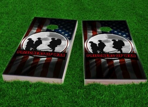 POW Theme Cornhole Game (Set of 2) by Custom Cornhole Boards