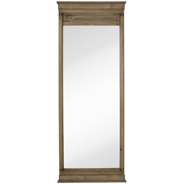 Beautiful Large Natural Wood Stain Rectangular Traditional Glass Wall Mirror by Majestic Mirror