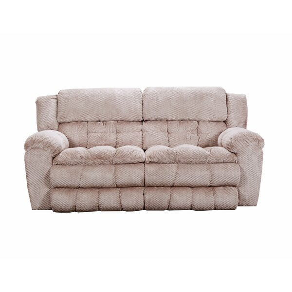 Premium Sell Henning Motion Reclining Sofa by Simmons Upholstery by Darby Home Co by Darby Home Co