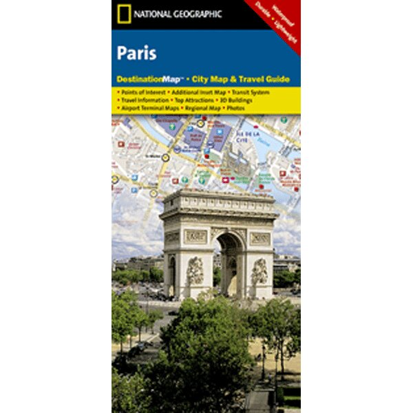 Paris Destination City Map and Guide by Universal Map