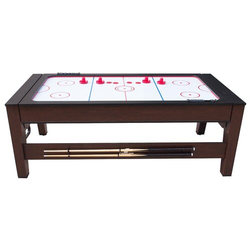 7.1ft Air Hockey Table Freeport Park Dark Stain,Brown