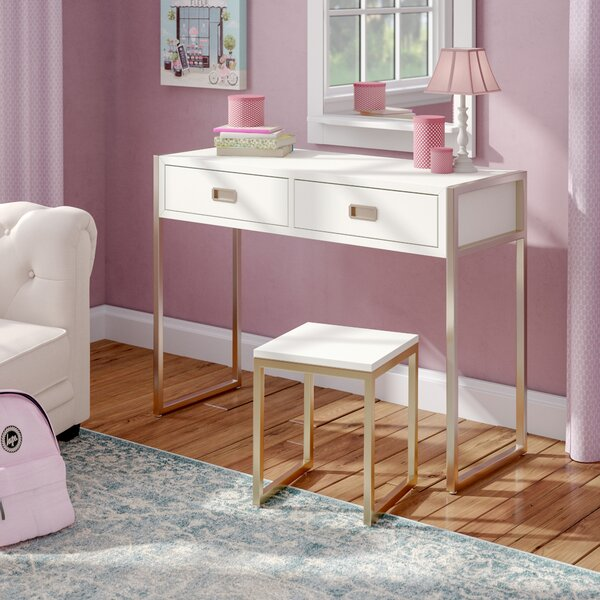 Caran 2 Piece Vanity Set by Everly Quinn