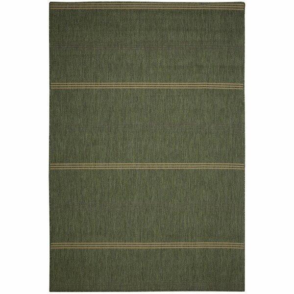 Arya Green Stripe Indoor/Outdoor Area Rug by Andover Mills