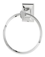 Geometric Wall Mounted Towel Ring by Alno Inc