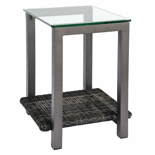 Canaveral Glass Side Table by Woodard