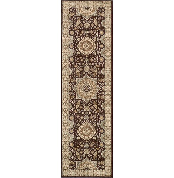 Crescent Brown Area Rug by Charlton Home