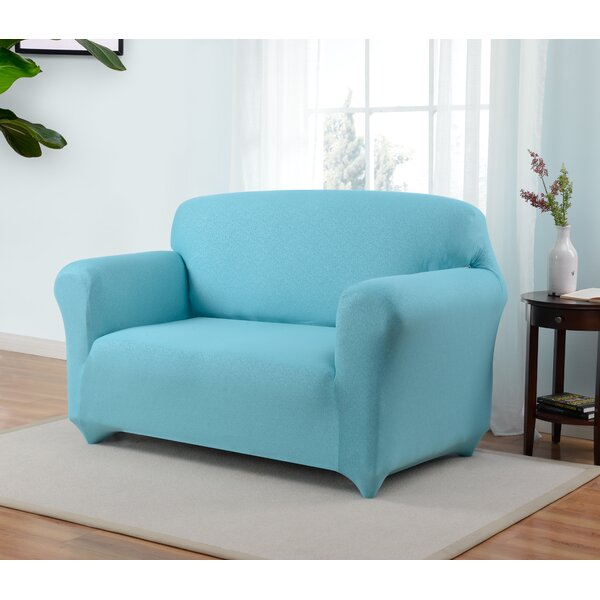Box Cushion Loveseat Slipcover by Latitude Run