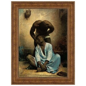 The Barber of Suez, 1876 by Leon Bonnat Framed Painting Print by Design Toscano