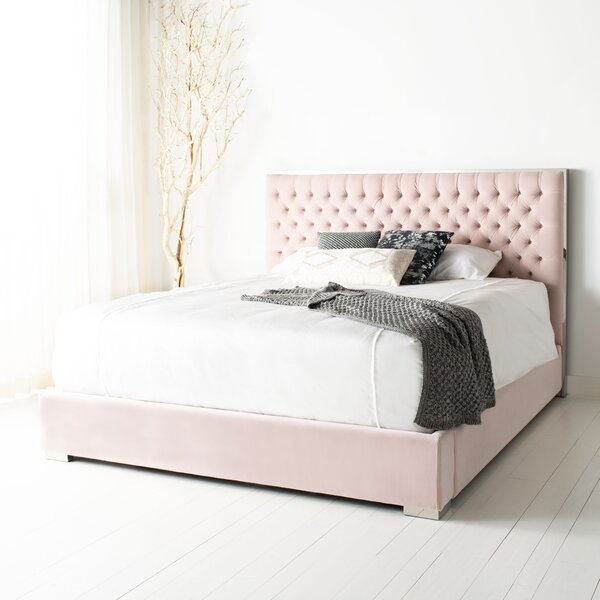 Alleman Tufted King Upholstered Standard Bed by Everly Quinn