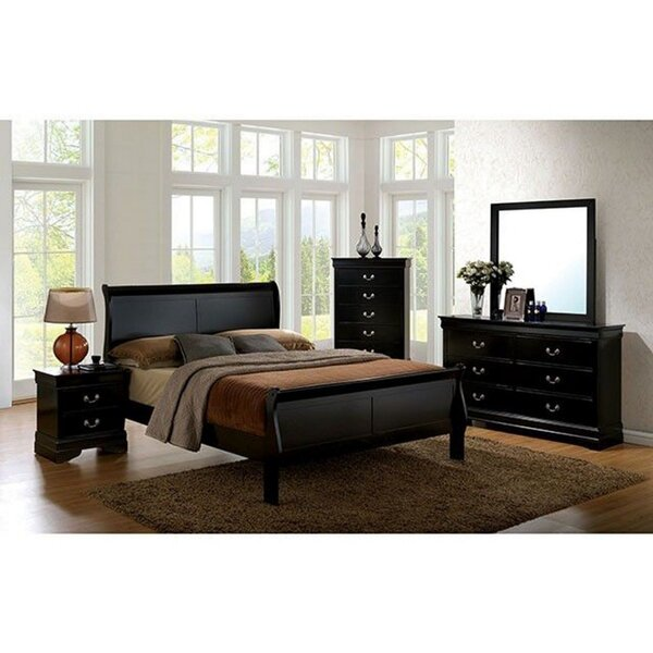 Marjoram Sleigh 4 Piece Bedroom Set by Charlton Home