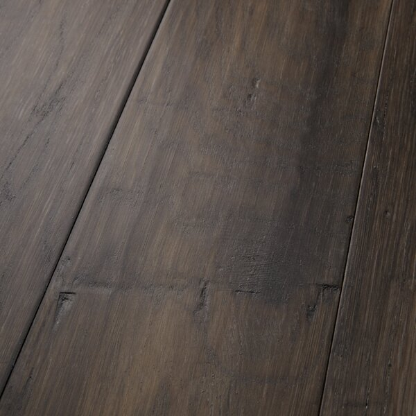 Mountain View 5 Engineered Hickory Hardwood Flooring in Smoke by Mannington