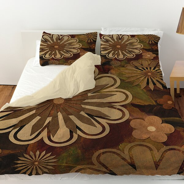 Floral Abstract I Duvet Cover by Manual Woodworkers & Weavers