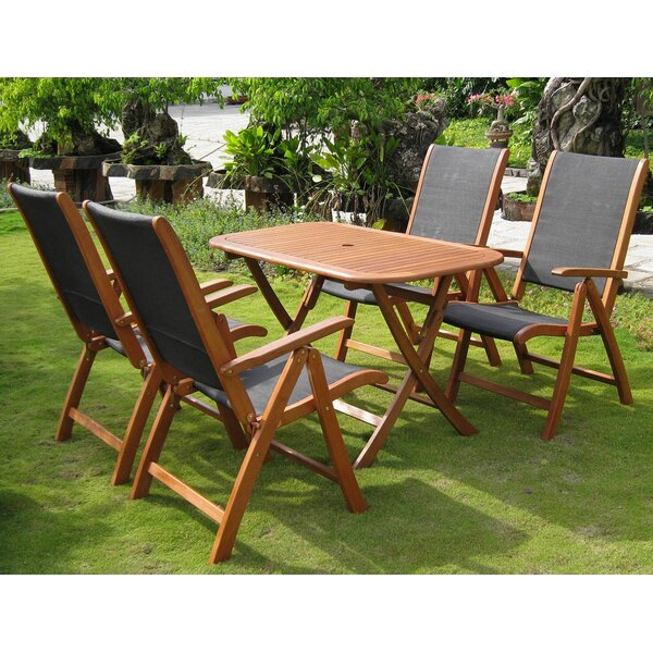 Sabbattus 5 Piece Dining Set by Breakwater Bay