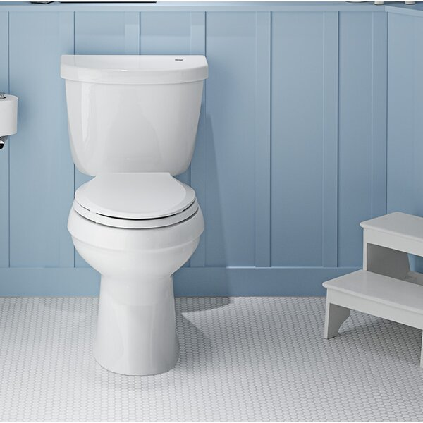 Cimarron Comfort Height 1.28 GPF Elongated Two-Piece Toilet by Kohler