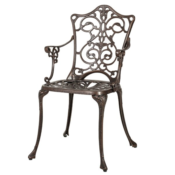 Bourdeau Patio Dining Chair (Set of 2) by Fleur De Lis Living