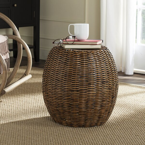 Willow Drum End Table By Bay Isle Home