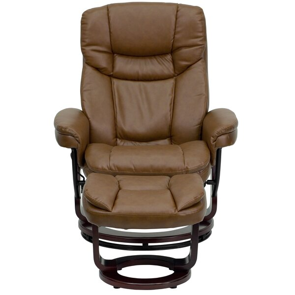 Winnols Manual Swivel Recliner with Ottoman [Latitude Run]