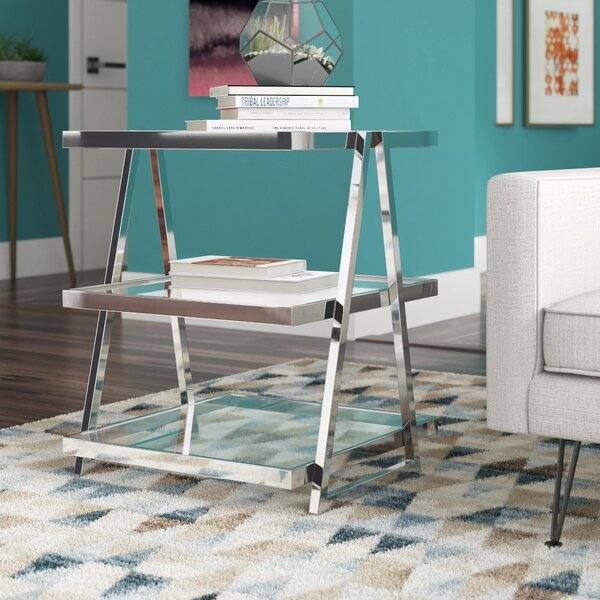 Discount Turner Glass Top Sled End Table
