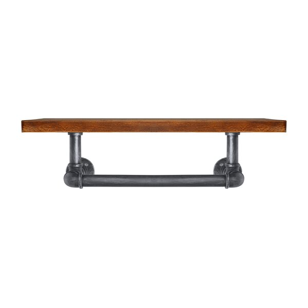 Cintron Industrial Floating Pipe Wall Shelf by 17 Stories